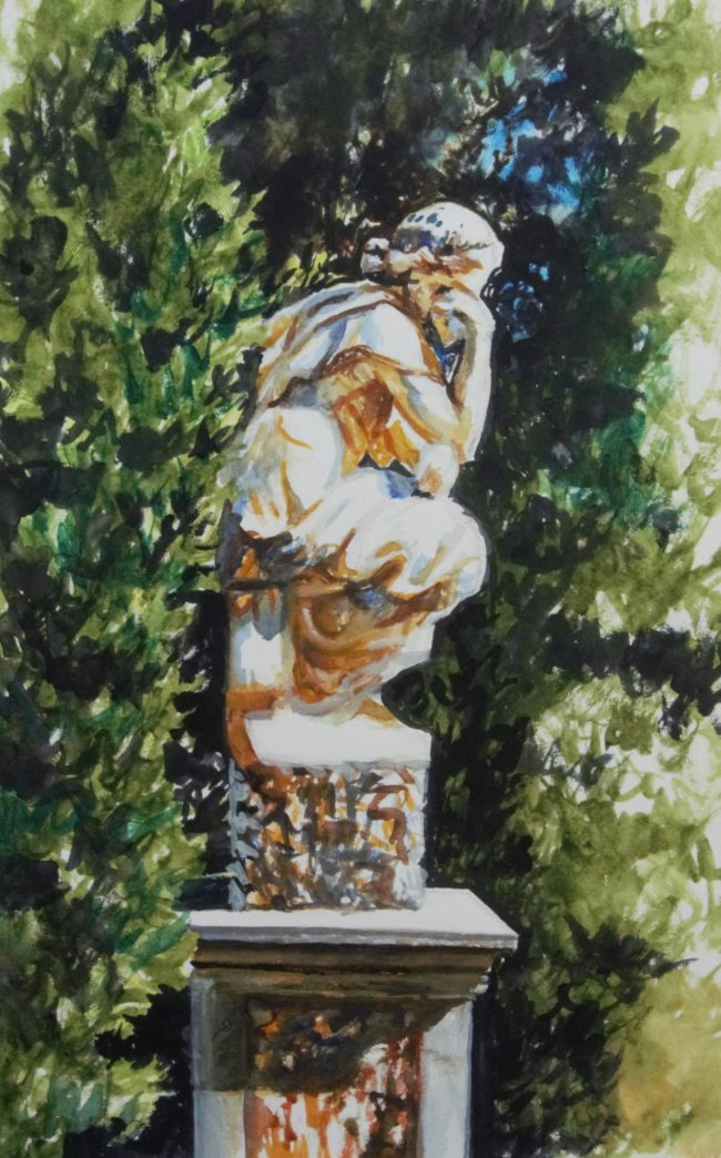 13.Boboli_s penseuse _ 23X30cm _ watercolor on paper _ 2019