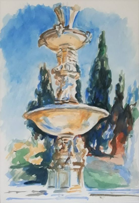 15.From Sargent_s Petraia fountain _ 10X30cm _ watercolor on paper _ 2018