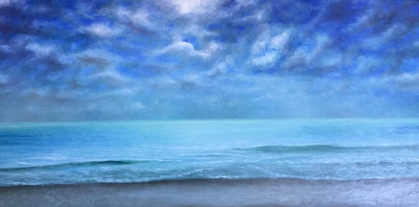 18.Hollywood beach _ 122X60.6 cm _ oil on linen _ SOLD _ 2018