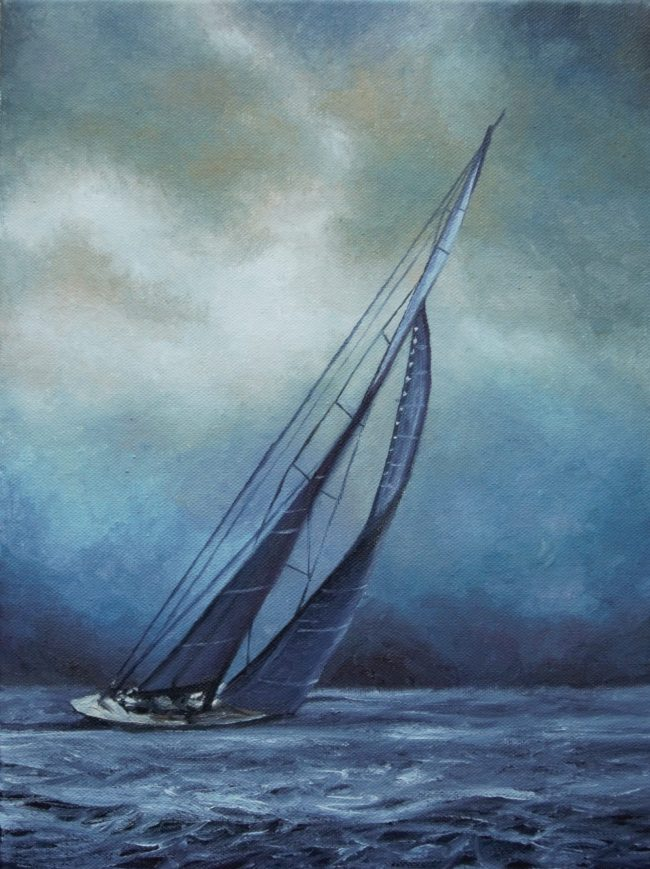 20.Sail boat _ 45X30cm _ oil on linen _ 2019