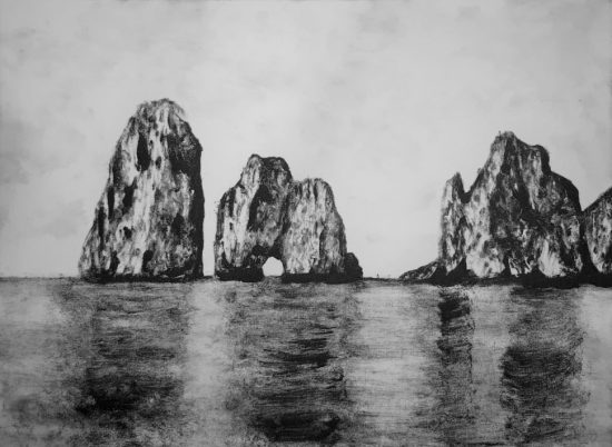 21.Capri monotype _ 17,5X12,5cm _ Ink on paper _ 2014