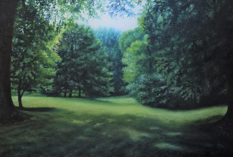 4.Afternoon park _ 60.5X40cm _ oil on panel _ 2016