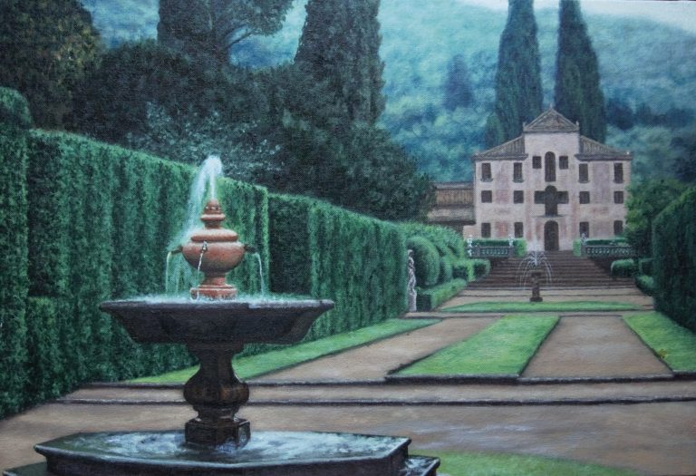 5.Villa Barbarigo _ 60X40cm _ oil on panel _ 2016