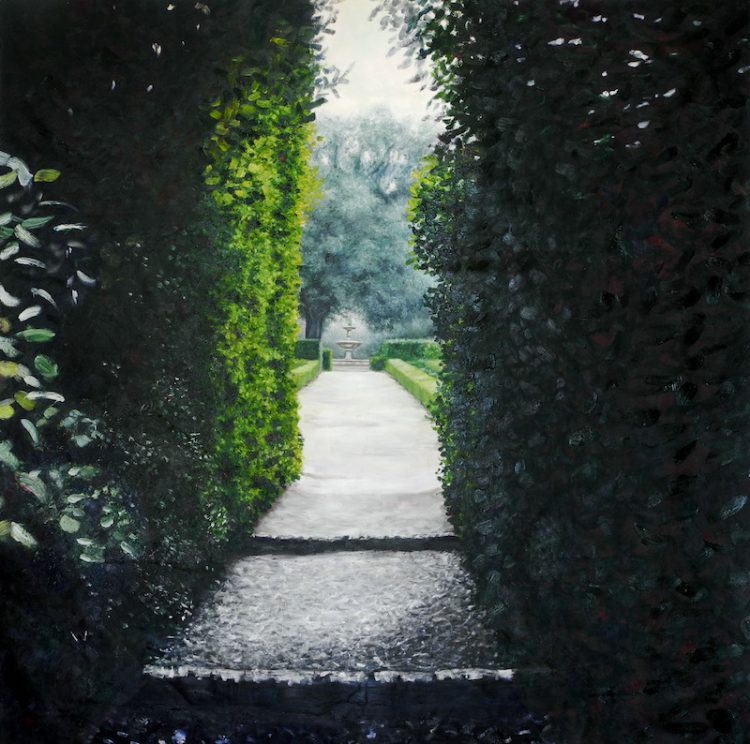 7.La Petraia's entrance _ 150X150cm _ oil on linen _ 2014